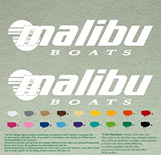 Pair of Malibu Boats Outboards Decals Vinyl Stickers Boat Outboard Motor Lot of 2 (12