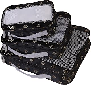 Fleur De Lis 3 Pc Set Perfect Packing System, Black
