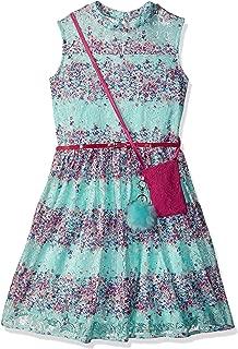 Beautees Big Girls' Lace Skater Dress