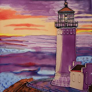 8 X 8 INCH North Head Lighthouse Ceramic Tile
