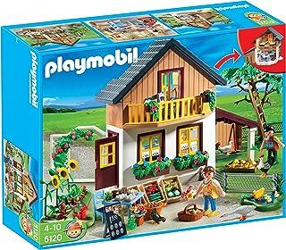 PLAYMOBIL - Casa de Agricultores y Mercado, Set de Juego (51