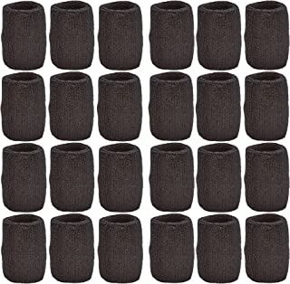 Unique Sports Athletic Performance Team Pack of 24 Wristbands (12 pair), Black
