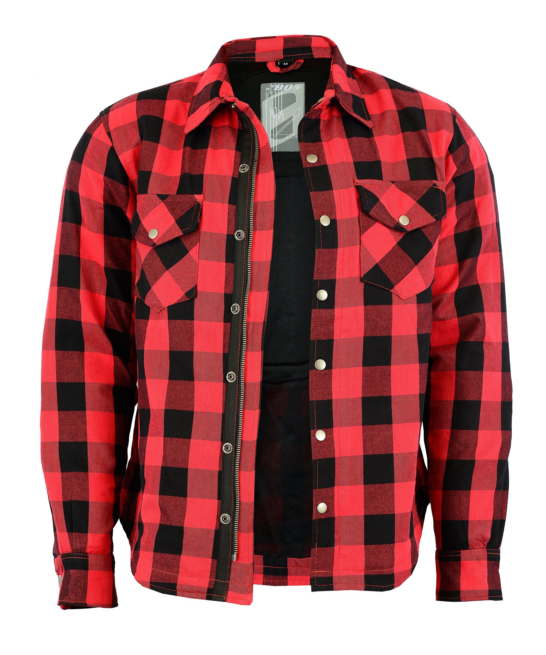 Lumberjack - Camisa-chaqueta a cuadros de color rojo y negro: Amazon.es: Coche y moto