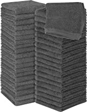 Utopia Towels Cotton Grey Washcloths Set - Pack of 60 - 100% Ring Spun Cotton, Premium Quality Flannel Face Cloths, Highly...