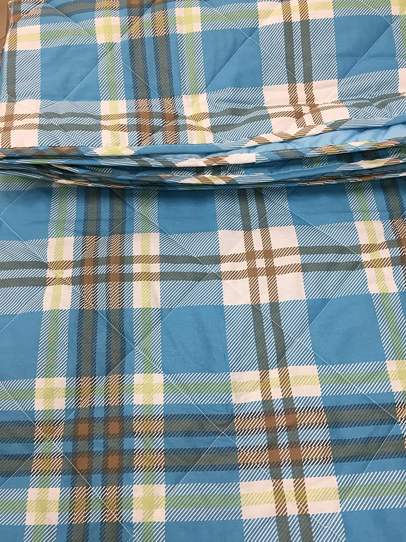 Caleffi - Colcha Individual Acolchada Scott Azul – Individual (170 x 265 cm) – quiltSCaleffi182