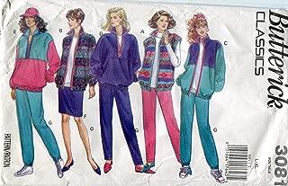 Butterick Classics Pattern 3081 Misses' Jacket, Vest, Skirt and Pants, Size L-XL