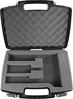 Casematix Hair Styling Case Compatible with Clipper, Trimmer, Finisher For Stylist Holds Oster Classic 76, Wahl, Andis and Other Hair Cutting Accessories in Customizable Foam
