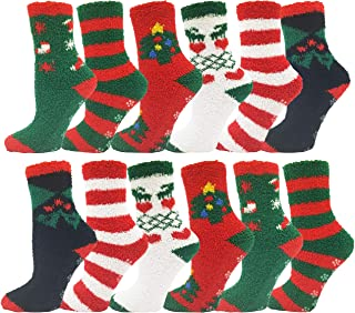 Women's Christmas Socks, 12 Pairs, Holiday Xmas Gift,...