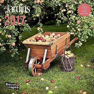 Nouvelles Images - Calendario de 2017,jardínes, 16meses 14,5 x 14,5 cm