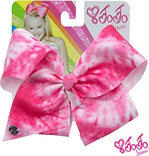 JoJo Siwa Signature Collection Tie Dye Hair Bow Neon Pink