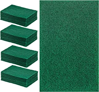 DecorRack 28 Large Cleaning Scouring Pads for Kitchen, Dishes, Bathroom, Household, Large Heavy Duty Non Scratch Scour Pad, Scrubber Sponge Dish Pads, Green (Pack of 28)