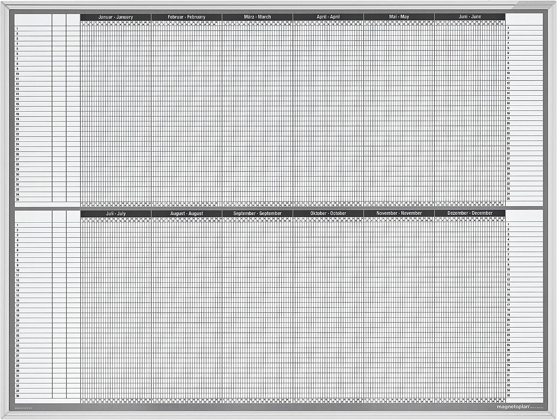 Jahresplaner Projekt- und Personalplaner, Tafelformat 121,5x91,5cm, 5x B00L9WK3RI | Schnelle Lieferung