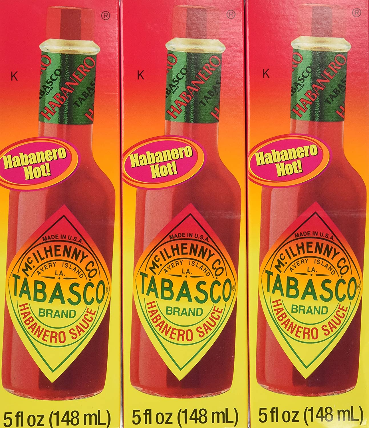 Tabasco Habanero Popular products San Francisco Mall Pepper Sauce 5 12 Pack of Ounce