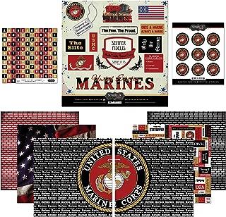 Scrapbook Customs Themed Paper and Stickers Scrapbook Kit, Marine