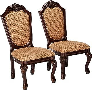 Acme Furniture AC-64077 Dining Chair, Fabric & Espresso