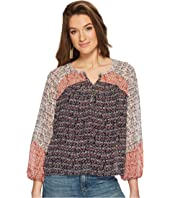 Lucky Brand - Mixed Print Peasant Top