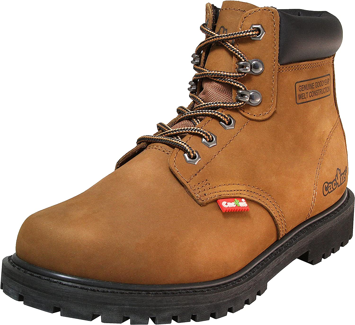 """Cactus Men's Work Boots LITE Soft 6"""" Rubber Fees free!! Toe outlet Nubuck Leather S"""