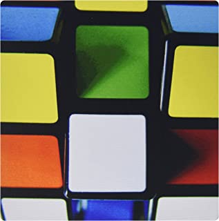 3dRose LLC 8 x 8 x 0.25 Inches Mouse Pad, Print Of Painting Of Rubik Cube Primary Colors (mp_183428_1)