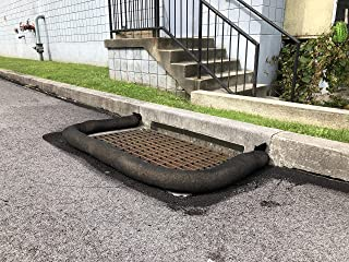 Inlet Protection Sediment Filter Sock by New Pig - Protect Drain inlets, Ideal Solution to Filter Runoff Water Around a Storm Drain Drop or Curb Inlet, Black 10' L
