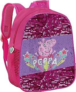 Peppa Pig Mochila lentejuel.móviles 30x24 Cm para Niñas, Rosa, 30x24Cm