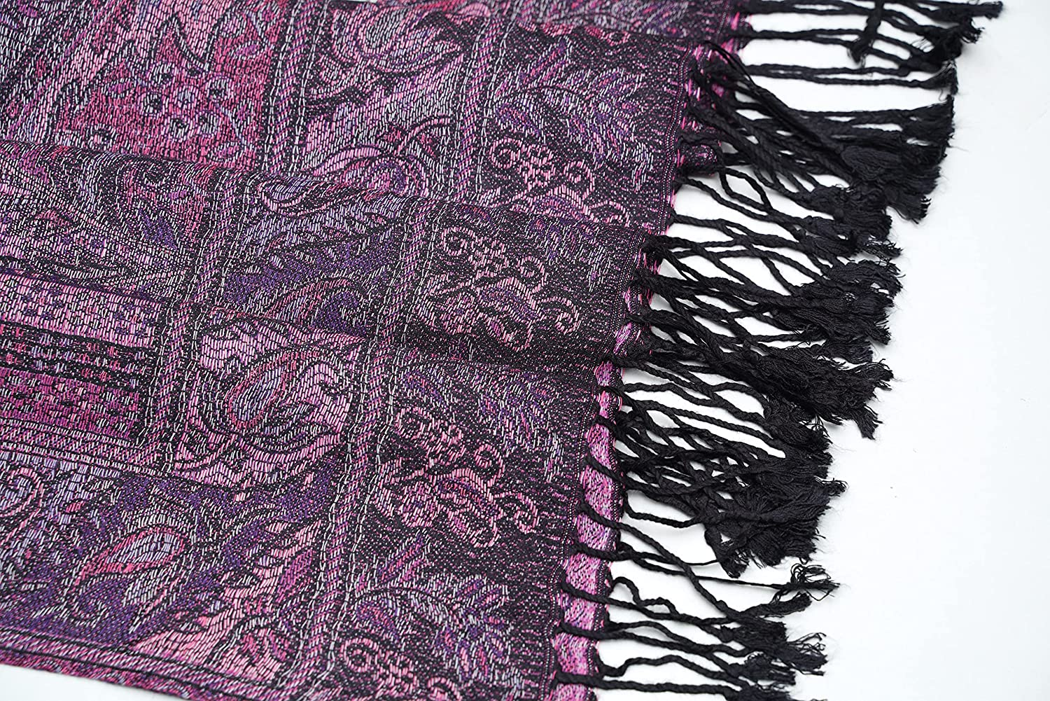 Cashmere Scarves Scarf for Women's Ladies Fashion Tapestry Ethnic Paisley Pattern Burgundy Floral Paisley