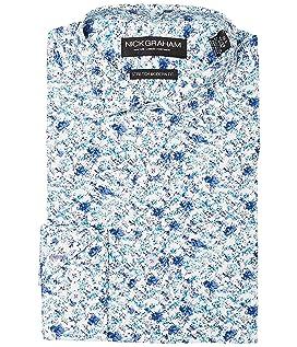 Floral Print Stretch Shirt