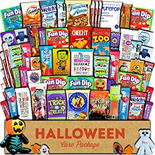 Halloween Care Package (60ct) Trick or Treat Snacks Cookies Bars Chips Candy Toys Variety Gift Box Pack Assortment Basket Bundle Mixed Bulk Sampler Treats College Students Office