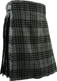 Falda Escocesa Vestido Tierras Altas Tradicional Hombres Kilt - Gris