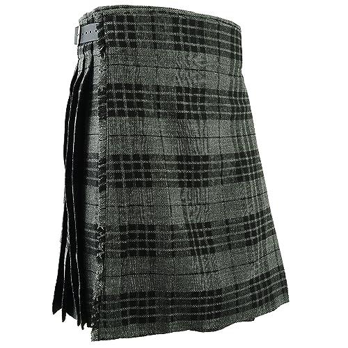 2e986a5c4d Gris para falda escocesa Scottish Highland falda tradicional e  instrucciones para hacer vestidos