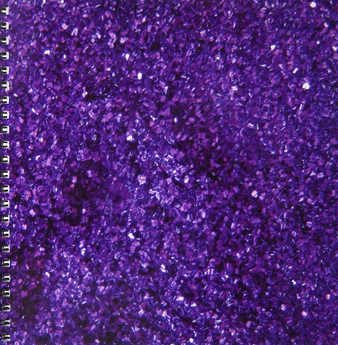 3dRose db_31158_1 Purple Sparkle Like-Drawing Book, 8 by 8-Inch