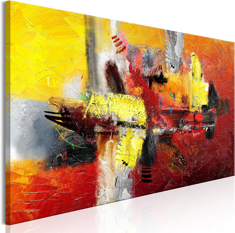 Murando - Bilder Abstrakt 150x50 150x50 150x50 cm Vlies Leinwandbild 1 TLG Kunstdruck modern Wandbilder XXL Wanddekoration Design Wand Bild - rot gelb a-A-0360-b-a B07FN376GD ab1ba6