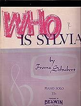 Seet Music WHO IS SYLVIA Piano Solo Franz Schubert Arr. Sylvia Schaum
