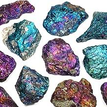 A DIYARTS Cluster di Cristallo Galvanizzato Lucido Colorato di Cristallo di Pietra Naturale per Esposizione della Decorazione della Raccolta