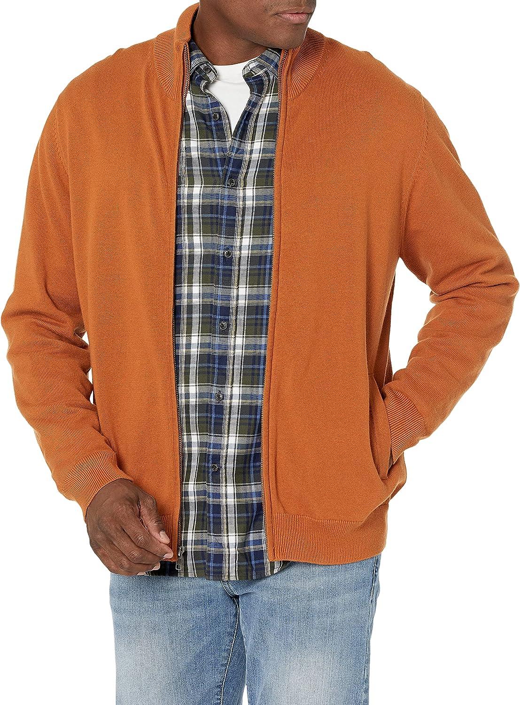 Amazon Essentials Cotton Full-Zip Sweater Hombre