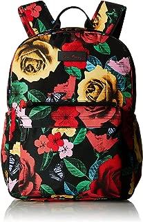Vera Bradley Women's Lighten Up Grande Laptop Backpack, Havana Rose, One Size