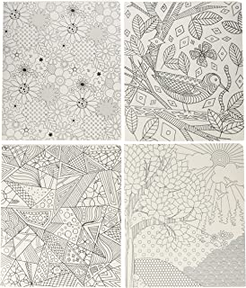 Smead Coloring Two-Pocket Folder, Whimsical Designs, Letter Size, 4 per pack (87911)