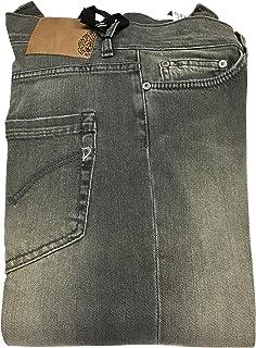 DONDUP Jeans Donna Grigio Vita Bassa con Zip Fondo cm 16 MOD P269 S010 Dionis 98% Cotone 2% Elastan Made in Italy