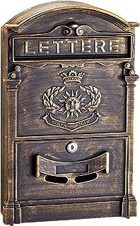 AdirHome Bronze Steel Multilingual Mailbox