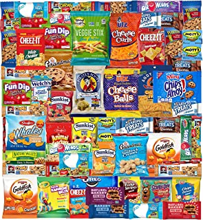 Snack Box Variety Pack (53 Count) Cookies Chips Candy Care Package for Office Meetings Schools College Students, Military,...