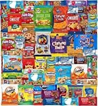 Snacks Box (53 Count) Ultimate Sampler Mixed Box, Cookies Chips Candy Care Package for Office Meetings Schools College Students, Military, Easter Gifts Baskets, Snack Variety Pack