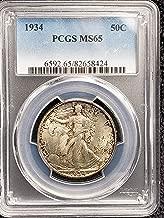 1934 Walking Liberty Half Dollar BU 50c MS 65 PCGS
