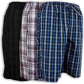 dd1ff12076 Andrew Scott Men s 3 Pack Soft Poplin Woven Pajama   Sleep Jam Cargo Short  Lounge Pants