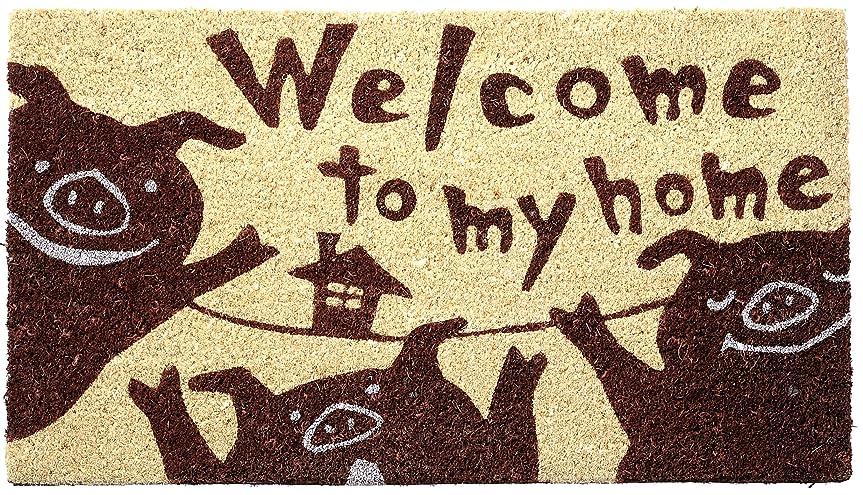 先のことを考える悲観主義者ラッシュ大橋新治商店 コイヤーマット ブタ 70×40cm 17-016