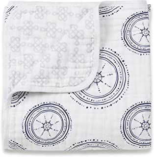 aden + anais Dream Blanket, 100% Cotton Muslin, 4 Layer lightweight and breathable, Large 47 X 47 inch, Liam The Brave - Dog