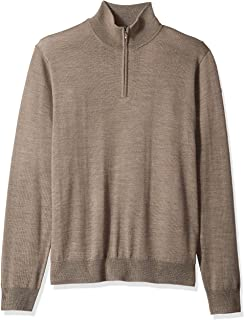 Goodthreads Men's Merino Wool Quarter Zip Sweater