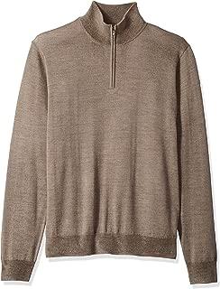 Amazon Brand - Goodthreads Men's Merino Wool Quarter Zip Sweater