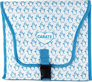Carats Car Seat Cooler for Baby with COOLTECH - Baby Car Seat Cooling Pad (Penguin Blue)