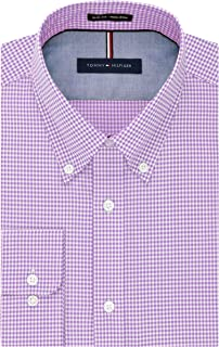 Tommy Hilfiger Men's Dress Shirt Slim Fit Non Iron Gingham