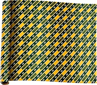Forever Collectibles Green Bay Packers Team Plane Wrapping Paper