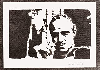 Poster El Padrino Don Vito Corleone Grafiti Hecho a Mano The Godfather - Handmade Street Art - Artwork
